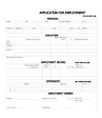 Job Application Form Template Employment Applications Templates
