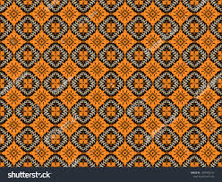 Fabric With Pictorial Design Indonesian Batik Pictorial Design That Made Stock Vector