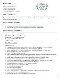 Ccna Resume Samples Top 5 Ccna Resume Templates In Doc