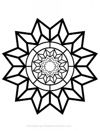 Small Picture Free Printable Adult Coloring Page Detailed Star Pattern Star