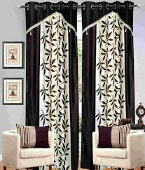Small Picture Molsan Home Decor Set of 2 Window Eyelet Curtains Floral Brown