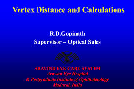 Vertex Distance Chart Vertex Distance And Calculations