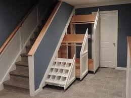 Image of: Under Nutmeg Stairs Cabinets