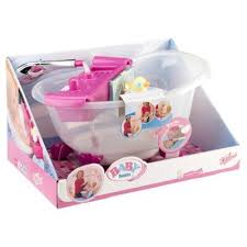 her very own baby born interactive bath tub this is no plain normal bath tub that just gets filled with water no this tub is lots of fun and has lots of