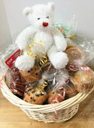 yummy cookies ins bear gift basket