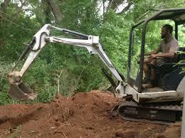 Earth Works Landscape Design Earth Works Track Hoe Mini Excavator And Back Hoe