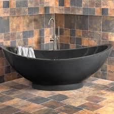 bathroom ovale natural stone bathtub bathroom interior