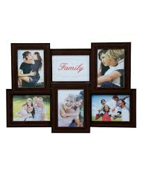truce brown 6 in 1 photo frame collage of 6 frame image