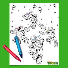 Small Picture Teenage Mutant Ninja Turtles Holiday Coloring Page Nickelodeon