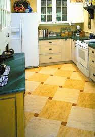 Checkerboard Kitchen Floor Ideas For Kitchen Floors Linoleum Tile More Old House