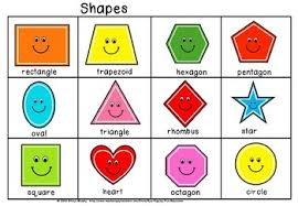 Shapes Chart Images Shapes Chart For Kindergarten Worksheets Teaching