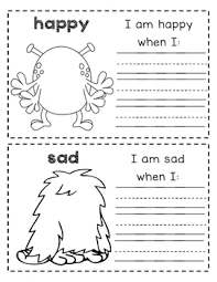 draw the emotions in this flipbook and write about when you feel it