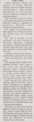 Althea Hamrick Wade Obit - 23 Feb 1995 - Newspapers.com