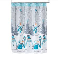 <b>Snow</b> Buddies Shower <b>Curtain</b> with Hooks in Teal | Bed Bath ...