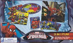 details about game 3 pack spider man bingo go spidey cards puzzle 10 x 9 cardinal