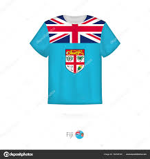 Fiji T Shirt Designs T Shirt Design With Flag Of Fiji Stock Vector Boldg