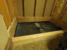 building a tile shower floor build shower pan curb diy pebble tile shower floor diy retile shower floor