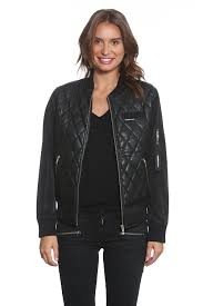 Members Only Jackets for Women | Official Online Store – Members ... & Women's Faux Leather Quilted Bomber Adamdwight.com