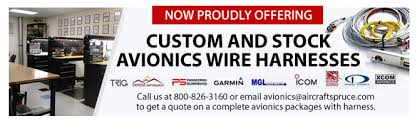 avionics wire harness shop from aircraft spruce Airline Wire Harness custom and stock avionics wire harnesses aircraft wire harness manufacturers