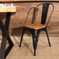 brown dining chairs. Tolix Wooden Seat Dining Chair - Wazo Furniture Brown Chairs D