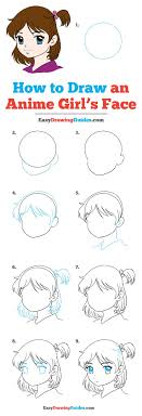 how to draw anime girl hair step by step for beginners. Perfect How How To Draw Anime Girl Face Intended To Hair Step By For Beginners