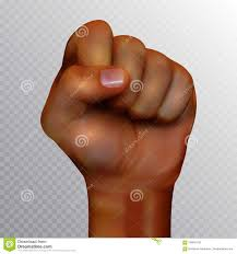 Fist Transparent Background African American Human Fist Raised Up Isolated On