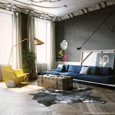 Living Room Design: Matte Black Accent Wall - Black Decor