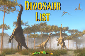 Dinosaur Time Periods Chart List Of Dinosaurs Dinosaur Names With Pictures Information
