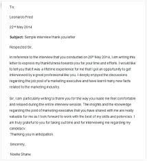Thank You Letter After Interview Nursing Cycling Studio
