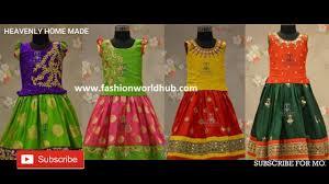 Full Blouse Designs For Children S Pattu Langa Blouse Designs For Kids