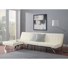 contemporary leather sofa sleeper. modern sofa bed sleeper faux leather convertible set couch chaise lounge furniture vanilla contemporary a