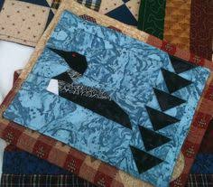 Loon Quilt | Bird quilts | Pinterest | Bird quilt and Quilted wall ... & LOON LAKE mug rug from GloryQuilts Adamdwight.com
