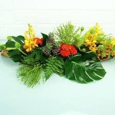 office floral arrangements. tropical husk table arrangement office floral arrangements