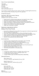 Lawyer Resumes New Associate Attorney Resume Sample Resumes And
