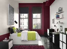 accent wall paint ideasRed Bedroom Ideas  Cityscape Red Bedroom  Paint Colour Schemes