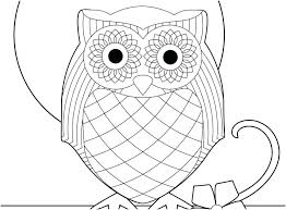 Cute Owl Coloring Page Trustbanksurinamecom