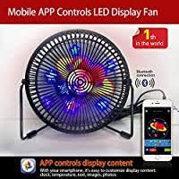 Desk Fan, Portable Mini USB Bluetooth Full Color ... - Amazon.com