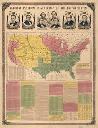 National Political Chart Map Of The United States