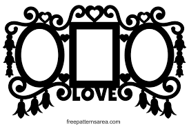 view larger image triple wall picture frame clipart vector