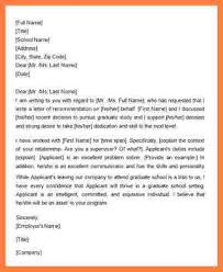 re mendation letter for master student from employer samples letter of re mendation for graduate school from a coworker