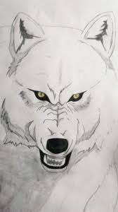 Howling wolf drawing black and white | how to draw wolf howling at the moon drawing night scenery💚 for easy drawing online videos visit my channel qwe art h. A White Wolf Kiba From Wolf S Rain Art Amino