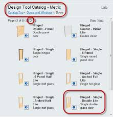 autocad architecture hinged single double lite
