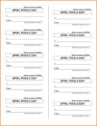 raffle ticket template sample customer service resume pdf psd it