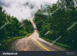 Mountain Roads Fog Cover Over Top Stock Photo 558240238 Shutterstock