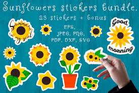 All sunflower monogram frame files cricut silhouette vinyl cuttable designs download file digital free file sunflower flower instant design. 0 Sunflower Elements Designs Graphics