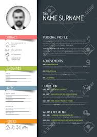 Minimalist Cv Resume Template Dark Color Version
