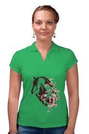 "Рубашка Поло ""<b>Лошадь</b>"" #2388144 от Ирина - <b>Printio</b>"
