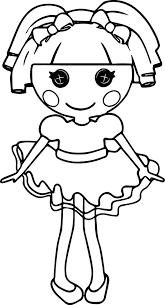 Lalaloopsy Cartoon Coloring Pages Wecoloringpage