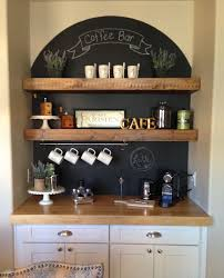 Coffee Nook. LOVE how they have a half moon chalkboard as a back drop with