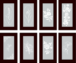 Frosted Glass Designs Vinyl Cabinet Designs For Frosted Glass Inserts